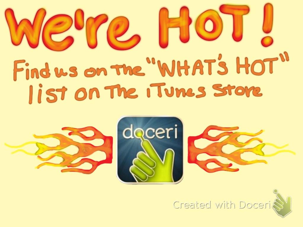Doceri iPad Whiteboard on App Store Hot List